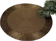 Platzset, Tischset, Deckchen PERLEN Perlen gold braun D. 35cm rund Formano (9,95 EUR / Stück)