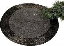 Platzset, Tischset, Untersetzer PERLEN Perlen schwarz silber Ø 35cm rund Formano (9,95 EUR / Stück)