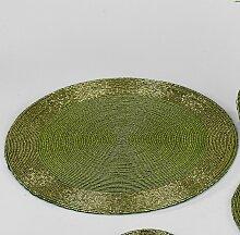 Platzset, Untersetzer, Deckchen PERLEN grün D.