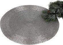 Platzset, Untersetzer, Tischset PERLEN Kunststoff silber rund Ø 35cm Formano (9,95 EUR / SET)