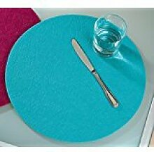 Platzsets Tischsets Filzuntersetzer rund Ø 35 cm