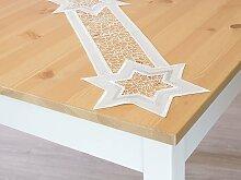 Plauener Spitze - Deckchen Motiv B 16cm * L 59cm -