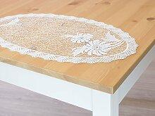 Plauener Spitze - Deckchen Oval B 25cm * L 48cm -