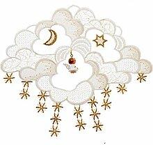 Plauener Spitze Fensterbild Weihnachten Engel in