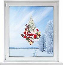 PLAUENER SPITZE Fensterbild Weihnachtsmann, ca.