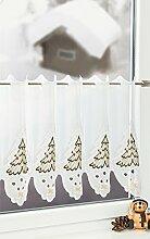 Plauener Spitze Scheibengardine Weihnachtsbaum (Bx