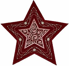 Plauener Spitze Tischdecke Stickerei Weihnachten