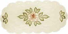 PLAUENER STICKEREI Deckchen mit Blüten-Stickerei,
