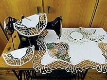 Plauner Spitze® 12,4 x 12,4 cm-Tischdecke mit