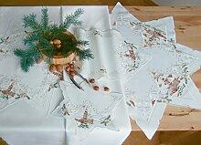 Plauner Spitze® 13,2 x 13,2 cm-Tischdecke mit