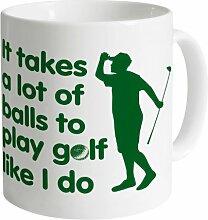 Play Golf Becher, Weiß