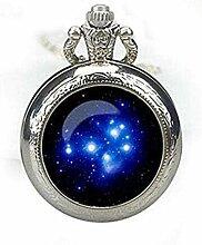 Pleiades Star Cluster Taschenuhr Halskette