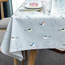 Plenmor Tischdecke Plastik für Quadrat Tische