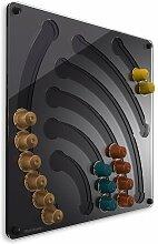 Plexidisplays 1103002 Wand-Kapselhalter für Nespresso-Kapseln, Design Wasserfall, 41 x 40 cm, schwarz