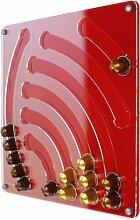 Plexidisplays 1103006 Wand-Kapselhalter für Nespresso-Kapseln, Design Wasserfall, 41 x 40 cm, ro