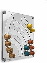 Plexidisplays 143113 Kapselhalter für Nespresso-Kapseln, Design Wasserfall mini, transparen