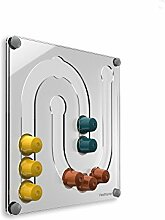 Plexidisplays 143133 Kapselhalter für Nespresso-Kapseln, Design Juhu, transparen