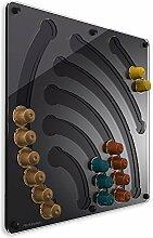 Plexidisplays 143212 Kapselhalter für Nespresso-Kapseln, Design Wasserfall, schwarz