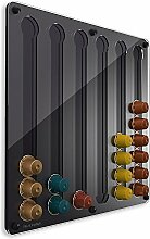 Plexidisplays 143222 Kapselhalter für Nespresso-Kapseln, Design Klassik, schwarz