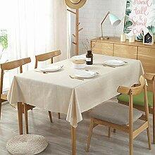 PLIENG Tischdecke Baumwolle Und Leinen Einfarbig