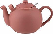Plint Teekanne, Stövchen - 2,5 Liter -Terracotta