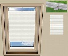 Plissee Cosimo Dachfenster für VELUX GGL F06 / Stoff: Weiß(PLB063) / Modell: DF 20 Basic