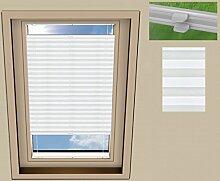 Plissee Cosimo Dachfenster für VELUX GGL M06 / Stoff: creme(PLB054) / Modell: DF 20 Basic