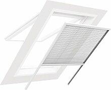 Plissee für Dachfenster BASIC - Fliegengitter Insektenschutz 110 cm x 170 cm weiß