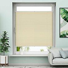 Plissee Klemmfix Verdunkelung Creme Jalousien Innen Ohne Bohren Rollos Für Fenster 100x130cm