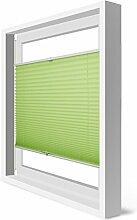 Plissee Klemmfix Verdunkelung Grün Jalousien Innen Ohne Bohren Rollos Für Fenster 40x130cm