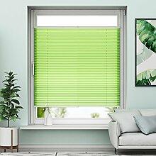 Plissee Klemmfix Verdunkelung Grün Jalousien Innen Ohne Bohren Rollos Für Fenster 85x130cm