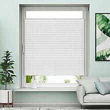 Plissee Klemmfix Verdunkelung Weiß Jalousien Innen Ohne Bohren Rollos Für Fenster 80x130cm