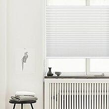 Plissee Klemmfix Verdunkelung Weiß Jalousien Innen Ohne Bohren Rollos Für Fenster 55x130cm