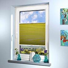 Plissee nach Maß, deutsche Wertarbeit, Design: Stripe, alle Größen (Farbe: Light Green, Höhe: 131-140cm, Breite: 131-140cm)