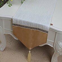 Plissee Stoff Tischläufer für Küche Tischdecke