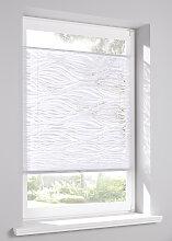 Plissee Welle, weiß ((H/B) 130/60 cm)