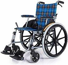PLLP Rollstühle Mit Zusammenklappbarem, Leichtem,