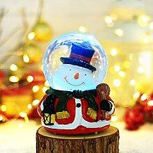 PLNXDM Weihnachtsbeleuchtung, LED, Musik,Schnee,