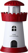 Ploekgda Mini-Leuchtturm-Luftbefeuchter,