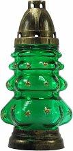 Plomyk H-3 Grablampe Weihnachten aus Glas Höhe 23cm (Grün)