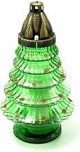 Plomyk H-4 Grablampe Weihnachten aus Glas Höhe 30.5cm