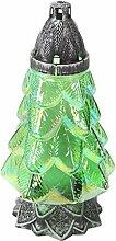 Plomyk H-4X Grablampe Weihnachten aus Glas, Höhe 30cm (Grün)