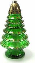Plomyk H-5 Grablampe Weihnachten aus Glas, Höhe 37cm