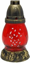 Plomyk J-1 Grablampe Ostern aus Glas Höhe 16cm (Rot)