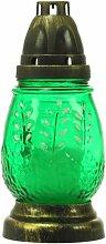 Plomyk J-8 Grablampe Ostern aus Glas Höhe 18cm (Grün)