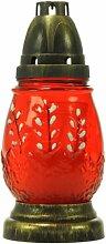Plomyk J-8 Grablampe Ostern aus Glas Höhe 18cm (Rot)