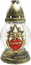 Plomyk S-16L Grablampe mit Herz-Ornament Höhe 21cm