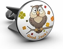 Plopp Waschbeckenstöpsel Eule / Owl, Good luck,