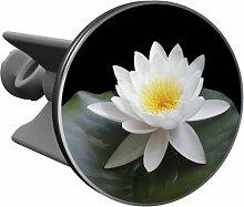 Plopp Waschbeckenstöpsel Lotusblüte weiß,