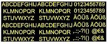 plot4u Aufkleber Buchstaben und Zahlen Set